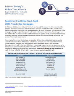OTA 2020 Presidential Campaign Audit Supplement_cover thumbnail